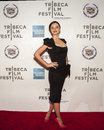 Amanda kerr stunning australian model arrives on the red carpet at the tribeca performing arts center at the th annual tribeca Stock Image