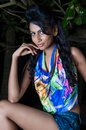 Amanda silva is a actress in srilanka news paper photoshoot at colombo december th Stock Image