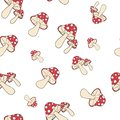 Amanita fly-agaric pattern seamless Royalty Free Stock Photo
