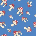 Amanita fly-agaric pattern seamless pantone Royalty Free Stock Photo