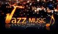 Amarelo d do brilho da estrela de jazz music saxophone gold city bokeh Imagens de Stock