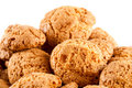 Amaretti - traditional italian cookies Royalty Free Stock Photo