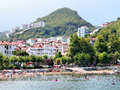 Amasra beach view at bartin turkey Stock Images