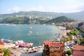 Amasra town view beach in turkey Royalty Free Stock Image