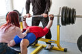 Amateur bench press championship Royalty Free Stock Image