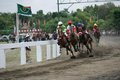 Amateur horse race jockeys during an racing event at wonogiri central java indonesia Stock Image