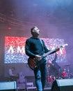 Amatory rock band performs at Atlas Weekend in Kiev, Ukraine.