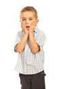 Amazed  child boy Royalty Free Stock Images