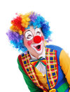 Amazed clown Royalty Free Stock Photography