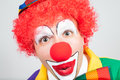 Amazed clown on white background Royalty Free Stock Image