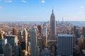 Amazing aerial view of Manhattan & Brooklyn