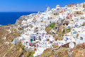 Amazing architecture oia village santorini island greece Stock Photos