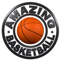 Amazing Basketball circular design Royalty Free Stock Images