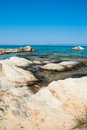 Amazing beach greece sarti background Stock Image