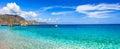 Amazing beaches of Greek islands Royalty Free Stock Photo