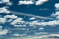 Amazing blue cloudy sky with white clouds photo horizontal photo Royalty Free Stock Image