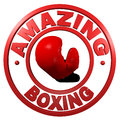 Amazing Boxing circular design Stock Photos