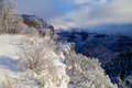 Amazing colorful scenery grand canyon s south rim covered snow winter Royalty Free Stock Photography