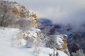 Amazing colorful scenery grand canyon s south rim covered snow winter Stock Images