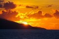 Amazing colorful sunset on an exotic beach in seychelles see my other works portfolio Stock Photography