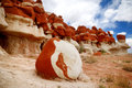 Amazing colors and shapes of sandstone formations of Blue Canyon in Hopi reservation, Arizona Royalty Free Stock Photo