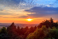 Amazing dramatic sunset in bavaria picture of an Royalty Free Stock Image