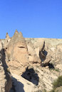 Amazing geological features in cappadocia turkey Royalty Free Stock Photos
