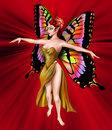 The Amazing Golden Fairy Royalty Free Stock Image