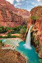 Amazing Havasu falls in Arizona Royalty Free Stock Photo