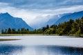 Amazing Lake Matheson. New Zealand Royalty Free Stock Photo