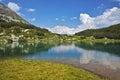 Amazing landscape of Muratovo lake, Pirin Mountain Royalty Free Stock Photo