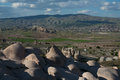Amazing landscapes with rock in Cappadocia. Royalty Free Stock Photo
