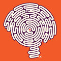 Amazing Maze Brain Royalty Free Stock Images