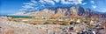 Amazing mountain scenery in Bukha, Musandam peninsula, Oman. Royalty Free Stock Photo