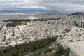 Amazing Panorama of the city of Athens from Lycabettus hill, Greece