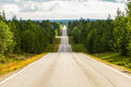 Amazing road in Finland Royalty Free Stock Photo