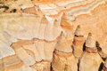 Amazing Rock Formations at Tent Rocks Royalty Free Stock Photos