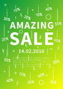 Amazing Sale vector banner with linear elements