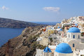 Amazing santorini oia village greece Stock Images