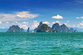 Amazing scenery of National Park on Phang Nga Bay Royalty Free Stock Photography