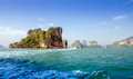 Amazing scenery of national park in phang nga bay thailand Royalty Free Stock Image