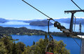 Amazing scenery seen from a cable car in patagonia south america Royalty Free Stock Image