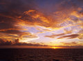 Amazing seascape sunset captured in the pacific ocean Royalty Free Stock Image