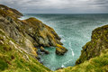 Amazing seashore landscape in ireland with cliffs and sea at howth Stock Photo