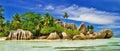 Amazing Seychelles, La digue Royalty Free Stock Photo
