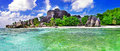 Amazing seychelles la digue island Royalty Free Stock Photo
