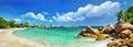 Amazing Seychelles, Praslin Stock Image