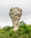 Amazing shape of natural old stone many million year ago built at pa hin ngam national park chaiyaphum province thailand Stock Photos