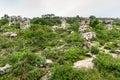 Amazing shape of natural old stone many million year ago built at pa hin ngam national park chaiyaphum province thailand Stock Image