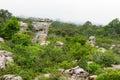 Amazing shape of natural old stone many million year ago built at pa hin ngam national park chaiyaphum province thailand Stock Photography